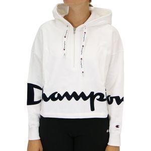 Champion Hoodie Sweatshirt Damen Weiß (111915 WW001) Größe: L
