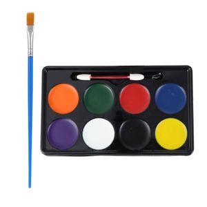 6 Stück Kindergesichtsfarben Körperbemalungspigmente mit Pinsel (verschiedene Farben)