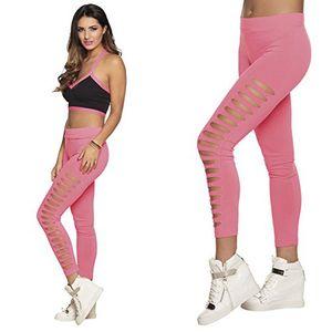 Boland offene Leggings neon pink Größe M