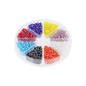 Rocailles Perlenset Rainbow 2mm, Dose 57g, 8 Farben regenbogen