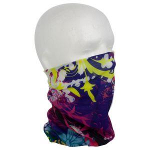 Multifunktionstuch Halstuch Schlauchschal Kopftuch Schal Gesichtstuch Stirnband Mütze Loop Motorrad Fahrrad Biker Maske Mundbedeckung Mundtuch Mundschutz Bandana - blühende Blüten