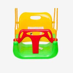 Babyschaukel 3 in 1 Babysitz verstellbar und mitwachsend Schaukelsitz Gartenschaukel Grün