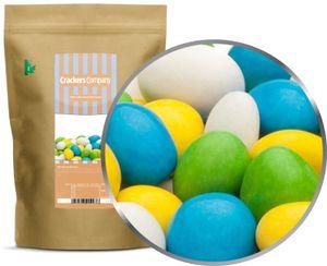 White, Yellow, Green & Blue Peanuts - Schokonüsse Weiß, Gelb, Grün & Blau - ZIP Beutel 750g
