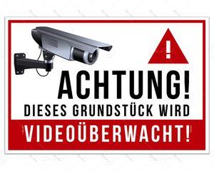 Despri PVC Schild - Videoüberwachung, S0002, 30x20 cm, 3mm, UV-Lack