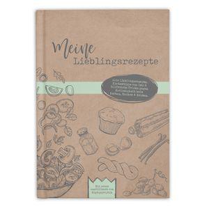 bigdaygraphix Rezeptbuch zum Selberschreiben und Ausfüllen meine Lieblingsrezepte A5 mit Inhaltsverzeichnis Hardcover