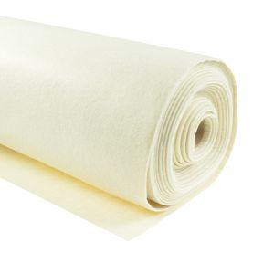 Bastelfilz 1m Meterware Filz 90cm x 1,5mm Dekofilz Taschenfilz Filzstoff 39 Farben, Farbe:creme