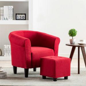 Chesterfield-Sessel Sofa Stuhl Weinrot Stoff