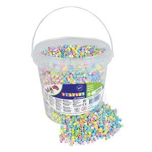 Bügelperlen Pastell im Eimer, 10000 Stück