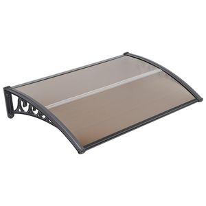 Vordach,Regenvordach für Haustür und Terrasse,bogenvordach,150*100,Tee-Braune-OV