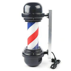 20 Zoll LED Lampe Barbershop Rot/Weiß/Blau Streifen Sign Licht Drehschild Lampe Barber-Pole Friseurlampe