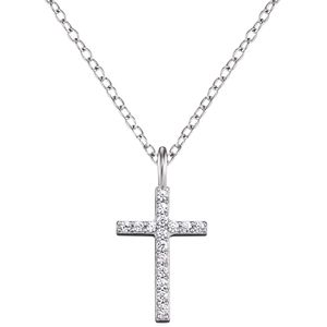 Engelsrufer ERN-LILCROSS-ZI Damen Collier Kreuz Sterling-Silber 925
