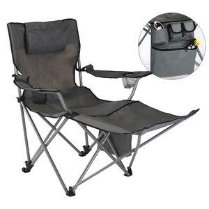 HI Luxus Campingstuhl mit Fußstütze Anthrazit