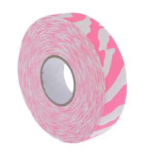 1 Rolle rutschfestes, abriebfestes Eishockeyschläger-Griffband, rosa Zebra 0,25 x 25 M.