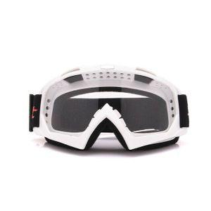 Crossbrille Skibrille Motocross Brille Sport Sonnenbrille Schneebrillen White-Transparent
