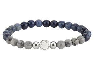 LIEBESKIND LJ-0091-B-17 Damen Armband Edelstahl Silber Blau 17 cm
