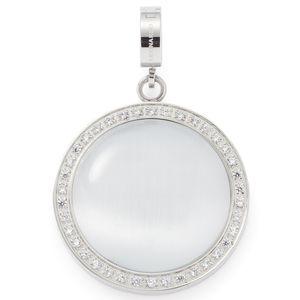 Leonardo 016276 Damen Charms Evita Darlin's Edelstahl Silber Weiß