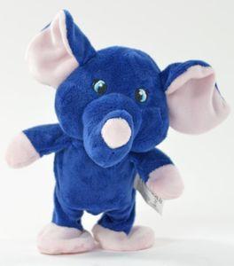 Laufender Elefant Lars plappert alles nach, Labertier läuft Laberelefant Plüsch