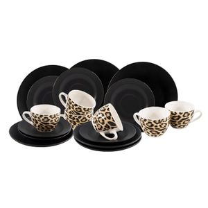 24328175 Kaffeeservice 18-teilig Black Leopard neuetischkultur
