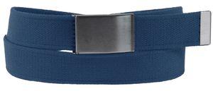 Stoff Gürtel 40mm Breite starkes Band Überlänge! 7 Farben, Bundweite:Bundweite 135 = Gesamtlänge 149, Farben:blau