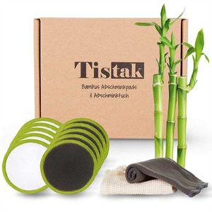 [10er Set] Abschminkpads waschbar inkl. Abschminktuch & Wäschebeutel - Flauschig weiche und wiederverwendbare Wattepads aus feinster Bambus Faser für umweltbewusste Frauen
