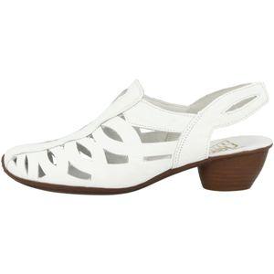 Rieker 43779-81 Schuhe Damen Sandaletten geschlossene Sandalen, Größe:37 EU, Farbe:Weiß