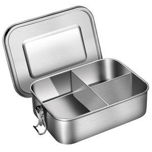G.a HOMEFAVOR 1200ml Lunchbox Brotdose aus 18/8 Edelstahl Bento Box mit 3 F?chern, 19 * 14 * 6 cm