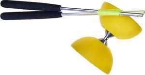 Acrobat diabolo 105 Gummi Aluminium 12 x 10,5 cm gelb