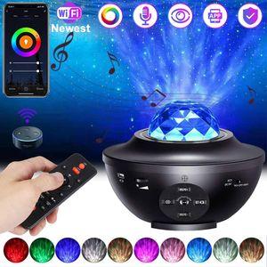 Smart WIFI Bluetooth LED Musik Lautsprecher Projektor Sternenhimmel Lampe Nachtlicht