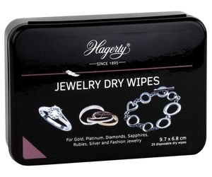 Hagerty A116339 Schmuck-Reinigungstücher Jewelry Dry Wipes 25 Stück