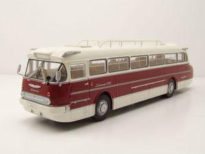 Ikarus 66 Bus 1972 rot weiß Modellauto 1:43 ixo models