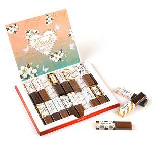 Aufkleber-Set passend für Merci Schokolade mit vorgedruckten und blanko Aufklebern