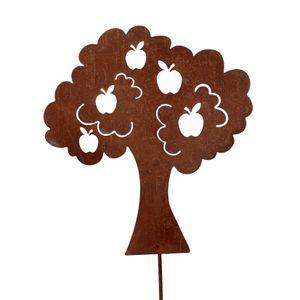 Gartenstecker Apfelbaum 3 Stück Metallstecker Dekostecker