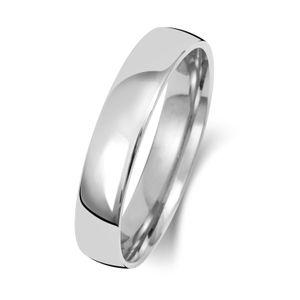 Platin 950 4mm Slight Court Form Herren/Damen - Trauring/Ehering/Hochzeitsring, 63 (20.1); WJS15111PT950