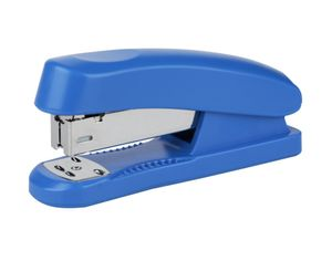 Heftgerrät für 20 Blatt Tacker ohne Klammern Büro Hefter Papierhefter | Heftleistung 20 Blatt | Bürohefter | Heftmaschine | Farbe -  blau