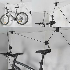 Fahrradlift von Dunlop, Deckenhalterung bis 4 m, Metallkonstruktion, Seilhalterung, Belastung bismax.20kg