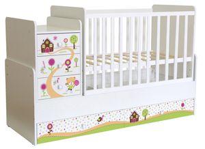 Polini Kids Kombi-Kinderbett Simple 1100 mit Motiv, 1442.9.3