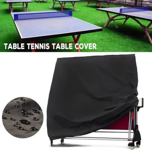 Outdoor-Tischtennis-Abdeckung Wasserdichter Klapp-Ping-Pong-Tisch Allwetterschutz,165x70 x185cm