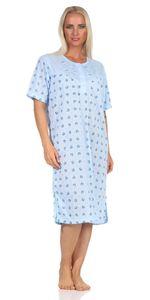 Damen Nachthemd Sleepshirt mit Muster, Blau 2XL/44