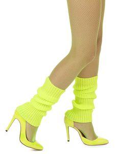 Beinstulpen für Damen neon-gelb