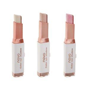 3 Stück - Dual Farben Lidschatten Stift Glitzer Lidschatten Make-up Stift Samt Shimmer Eyeshadow Makeup Pen
