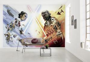 """Star Wars Fototapete von Komar """"STAR WARS EP9 Movie Poster Wide"""" - Größe 368 x 254 cm, 8 Teile"""