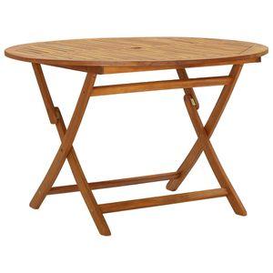 MÖBEL Klappbarer Gartentisch CLORIS Esstisch Balkontisch Tisch Garten 120 cm Massivholz Akazie #DE9858