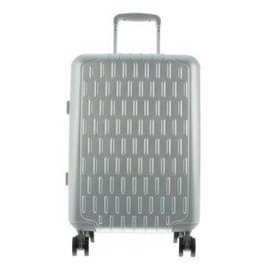 March 15 Trading Discovery Spinner, Aluminiumrahmen Koffer, 4 Doppelrollen, Zoll Sicherheitsschloss Größe, 55 x 38 x 22 cm, S - 55 cm - Aluminium Silver