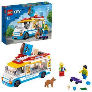 LEGO 60253 City Eiswagen Spielzeug mit Skater- und Hundefigur, Bauset für Kinder ab 5 Jahren