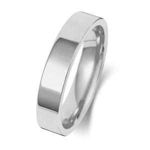 Platin 950 4mm Flach Court Form Herren/Damen - Trauring/Ehering/Hochzeitsring, 51 (16.2); WJS15163PT950