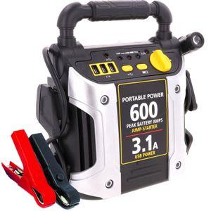 Auto Starthilfe 600A LKW Jump Starter Batteriestartgerät Powe Pack Notstartstrom mit LED Lampe