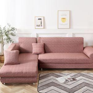 L-Form-Stretch Sofabezüge Polyester Elasthan Stoff Slipcover 2ST Polyester-Gewebe Stretch Slipcovers + 2pcs Kissenbezüge für modernes Schnittsofa, Hellgelb
