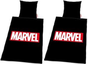 Marvel - Partner Bettwäsche von Herding, 2 x 155x220 & 80x80 cm, Avengers/Spiderman
