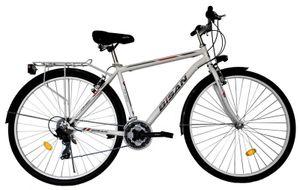 28 Zoll Herren City Trekking Fahrrad Herrenfahrrad Trekkingrad Cityrad Cityfahrrad Beleuchtung Rad Bike 21 Gang 5200 MAN WEISS