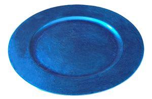 Davartis - Platzteller - Dekoteller aus Kunststoff, ca. 33 cm - Türkis/Blau